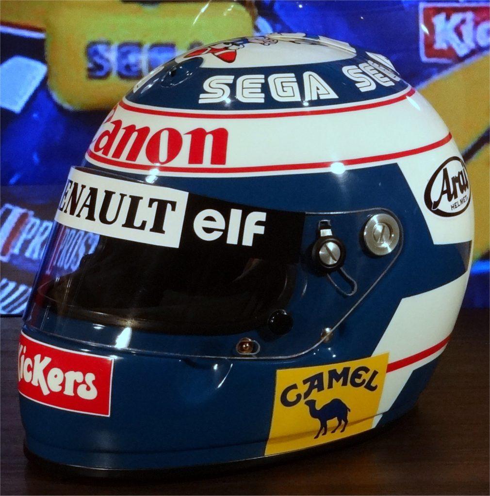 Alain Prost Arai helmet