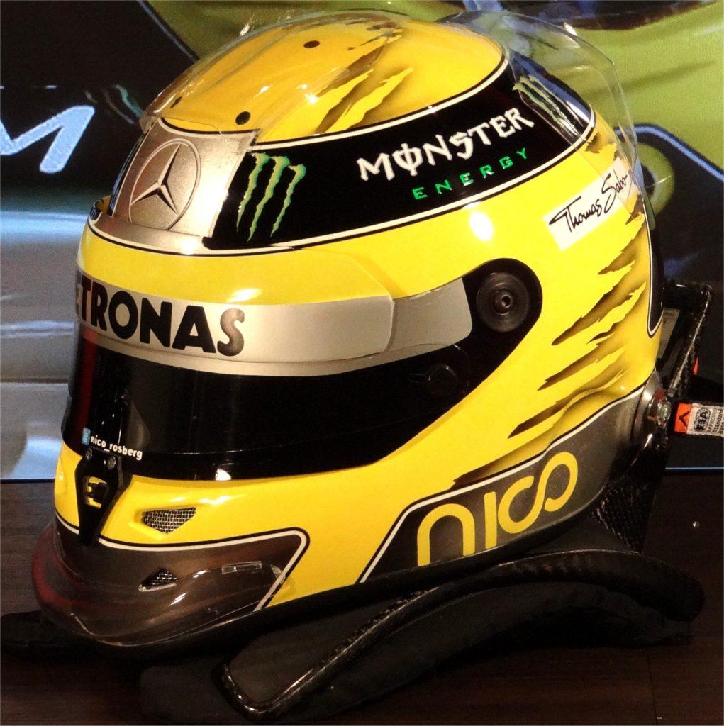 Nico Rosberg Schuberth F1 helmet