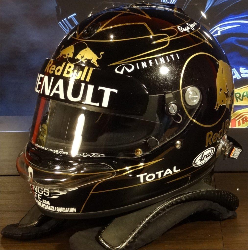Sebastian Vettel Arai helmet